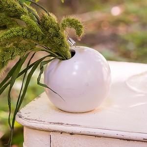 Vase  boule blanc à suspendre