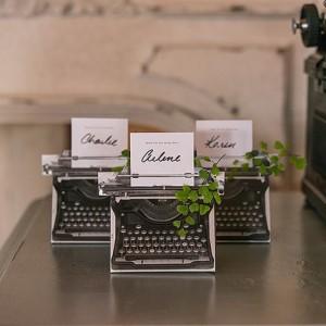 Boite à dragées machine à écrire par 10