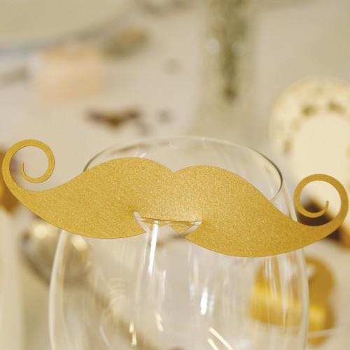 Marque place moustache / 7 coloris au choix