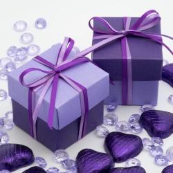 Boite à dragées violet et lilas par 10
