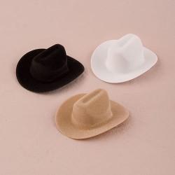 Contenant à dragées chapeau de cow boy