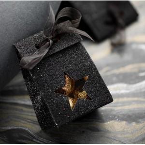 Sachet à dragées etoile noir