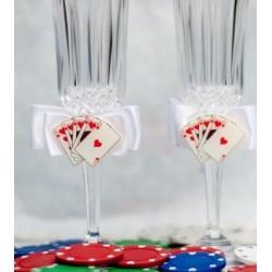 Flutes à champagne thème casino