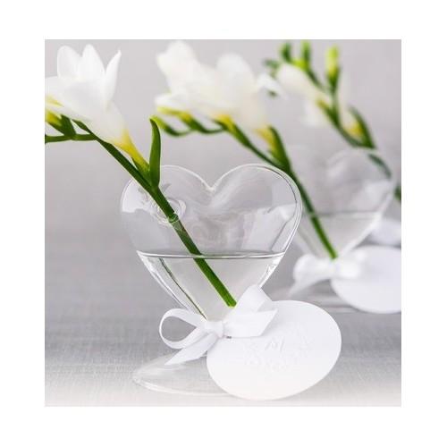 Vase en verre coeur
