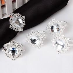 Rond de serviette mariage diamant par 10