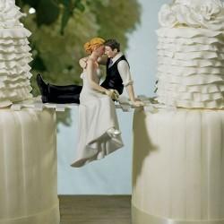 Figurine de mariage tête à tête romantique