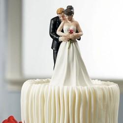 Figurine de mariage Oui à la rose