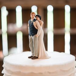 Figurine de mariage rustique