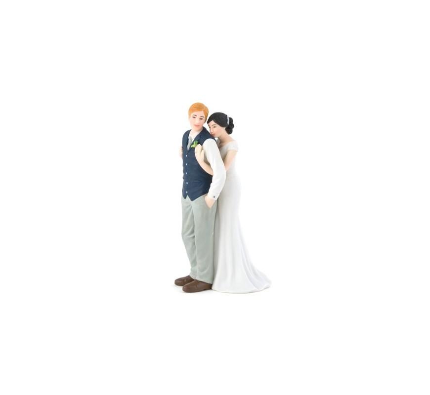 Figurine de mariage esprit champêtre Les Couleurs du