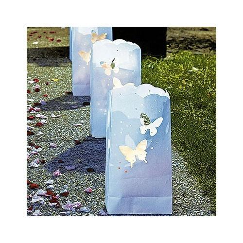 Sachet lanterne papillons par 10