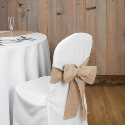 Noeud de chaise en toile de jute Les Couleurs du Mariage : Mariage et Réception