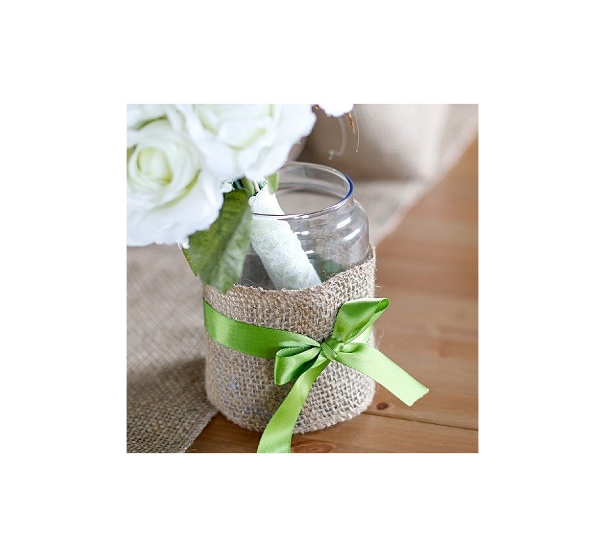 ruban toile de jute 10 cm x 5 m les couleurs du mariage mariage et r ception. Black Bedroom Furniture Sets. Home Design Ideas
