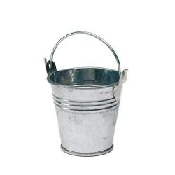 Mini seaux a dragées en zinc par 5