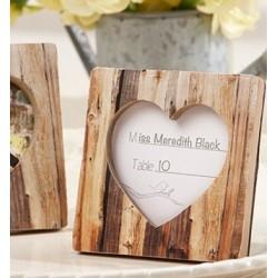 Cadre coeur table rustique