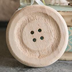 Bouton en bois décoratif