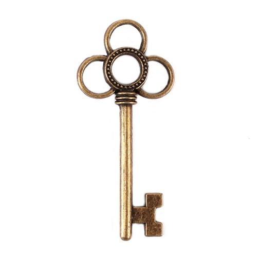 Breloque clé antique