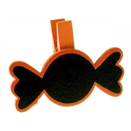 Marque place ardoise bonbon orange
