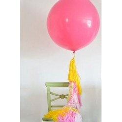 Ballon géant rose 200 cm
