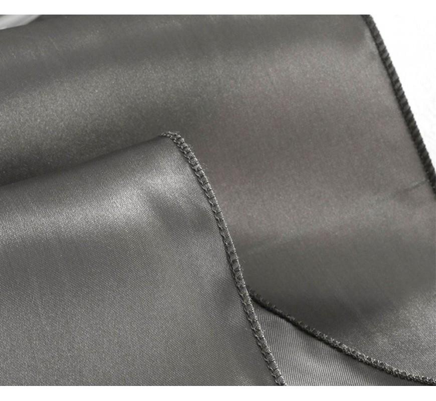 chemin de table satin gris les couleurs du mariage. Black Bedroom Furniture Sets. Home Design Ideas