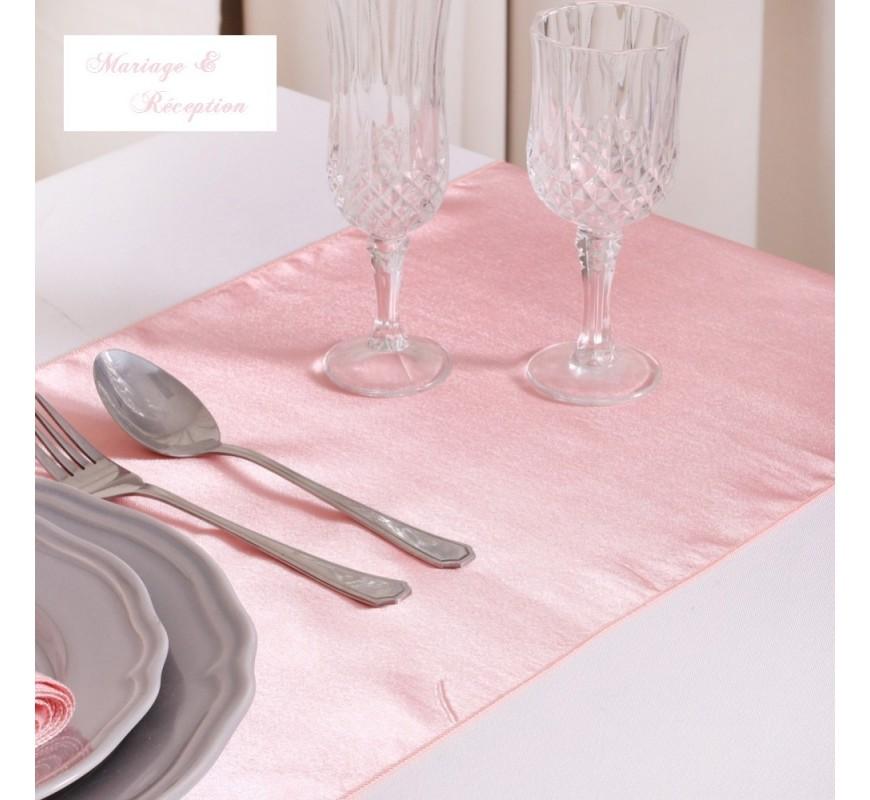 chemin de table mariage satin p che les couleurs du mariage mariage et r ception. Black Bedroom Furniture Sets. Home Design Ideas