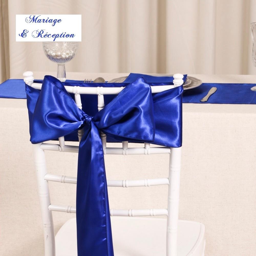 Noeud De Chaise Satin Bleu Roi Les Couleurs Du Mariage Mariage