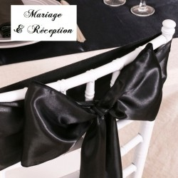 Noeud de chaise mariage satin noir