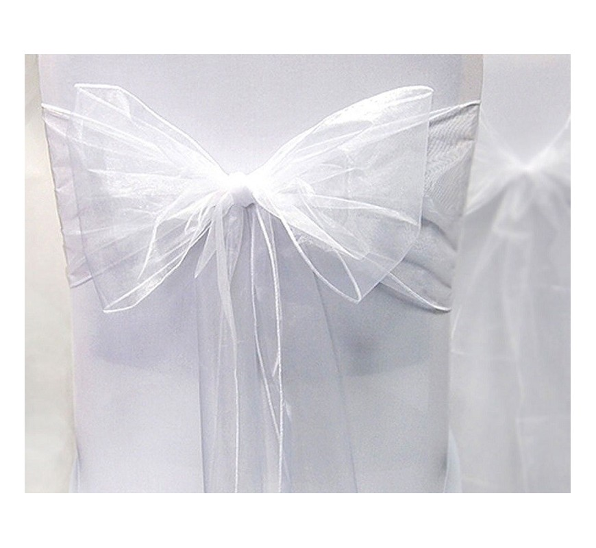 noeud de chaise organza blanc par 10 les couleurs du mariage mariage et r ception. Black Bedroom Furniture Sets. Home Design Ideas