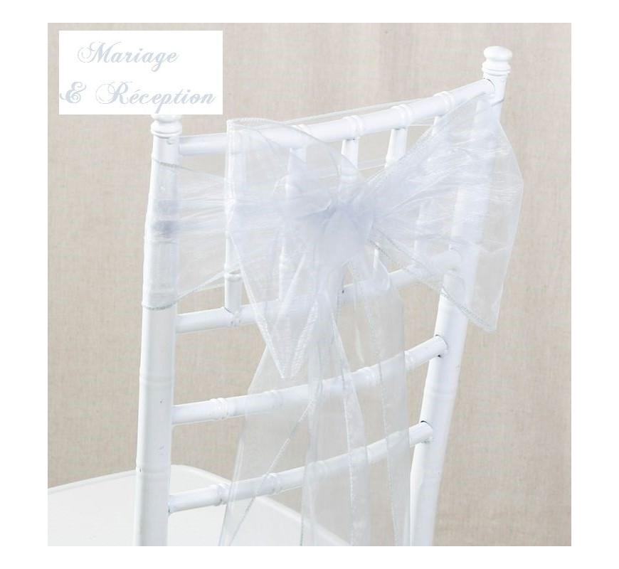 noeud de chaise organza argent par 10 les couleurs du mariage mariage et r ception. Black Bedroom Furniture Sets. Home Design Ideas