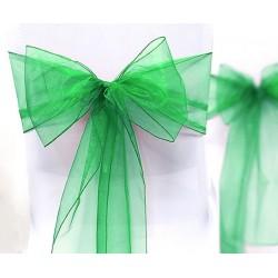 Noeud de chaise mariage organdi vert
