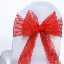 Noeud de chaise en dentelle rouge