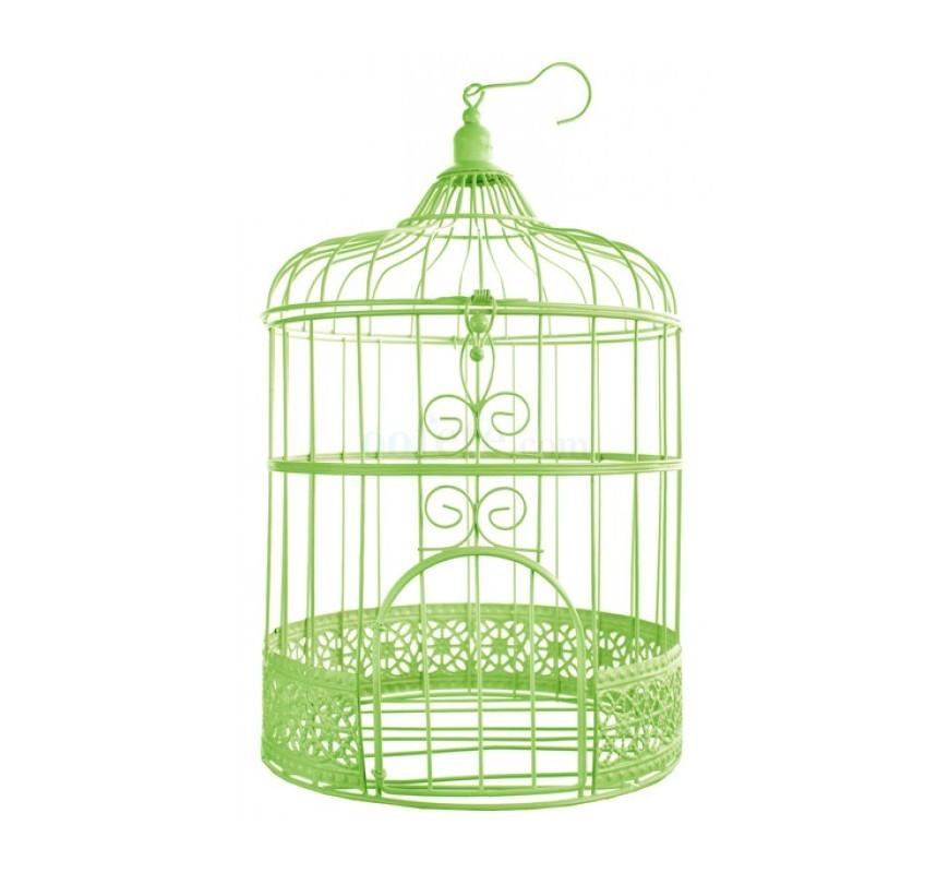 cage oiseaux d corative verte les couleurs du mariage mariage et r ception. Black Bedroom Furniture Sets. Home Design Ideas