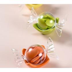 Boite à dragées bonbon transparent