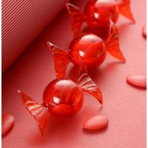 Boite à dragées bonbon rouge par 6