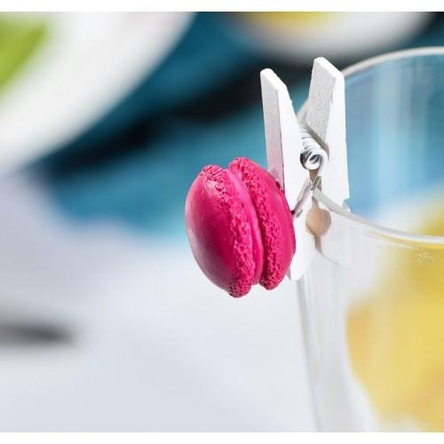 Pince macaron fuchsia