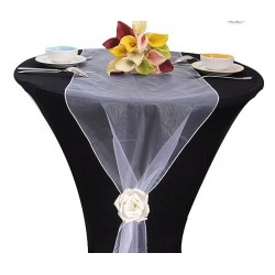 Chemin de table organza blanc