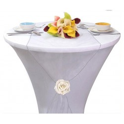 Chemin de table organza argent