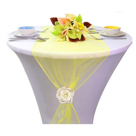 chemin de table organza jaune les couleurs du mariage mariage et r ception. Black Bedroom Furniture Sets. Home Design Ideas