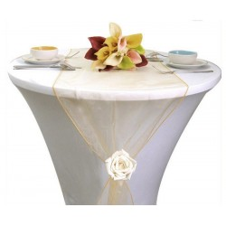 Chemin de table organza or
