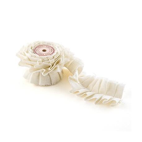 Ruban dentelle en coton 15 mm x 10 m