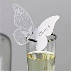 Marque place papillon dentelle par 10