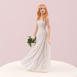 Figurine mariée bohème