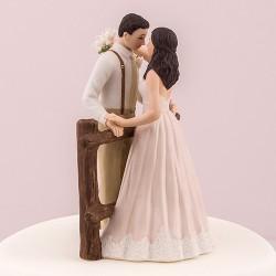 Figurine de mariage thème rustique