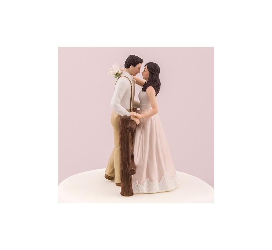 Figurine de mariage thème rustique Les Couleurs du