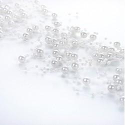 Guirlande de perles blanches (par 5)