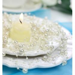 Guirlande de perles ivoires (par 5)