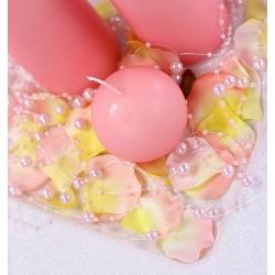 Guirlande de perles rose pale (par 5)