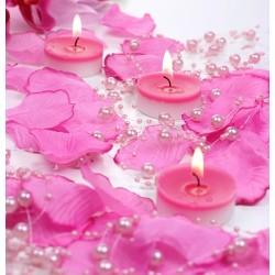 Guirlande de perles rose (par 5)
