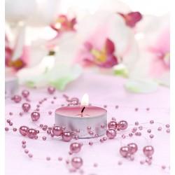 Guirlande de perles rose bonbon (par 5)