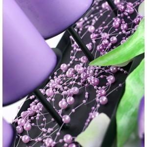 Guirlande de perles lilas (par 5)