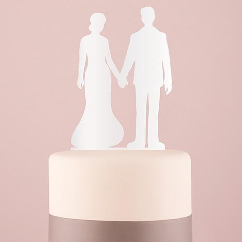 Figurine silhouette mariés main dans la main